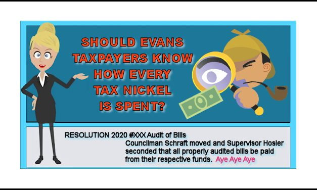 Should Evans Taxpayers Know How Every Tax Nickel Is Spent?