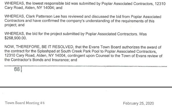 Does Evans Really Need A $268,900 Splash Pad?