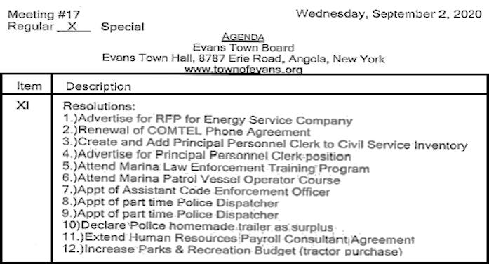Evans Agenda 2020 09 02 B