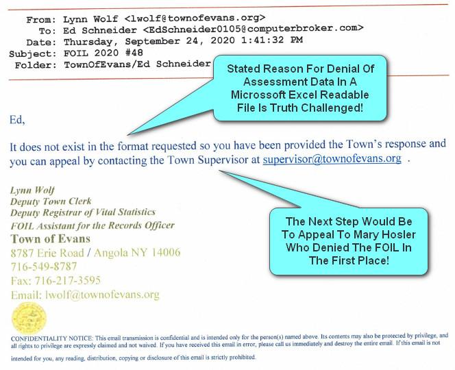 Mary Hosler Foil Denial